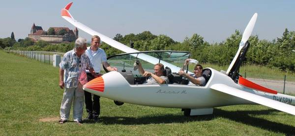 Besuch per Segelflugzeug